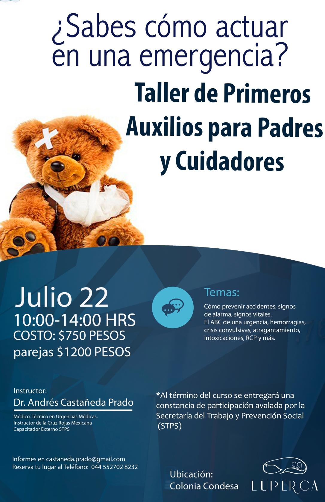 Poster Curso Primeros Auxilios